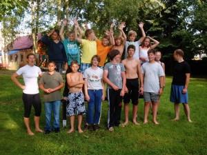 Gruppenfoto - Teilnehmer des Sommerkanucamp