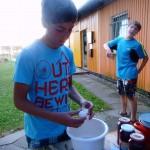 Sommerkanucamp 2013 - Kuchen backen