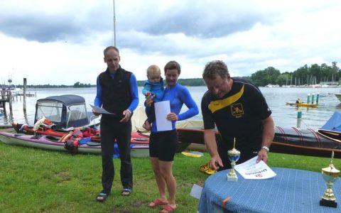 Berliner Kanu-Halbmarathon: Kanuten aus Erkner erhielten Ehrenpreise als schnellste Boote im Mix-Boot und Herren 2er