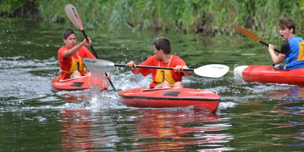 Erkneraner Kanuten gewinnen souverän Kanu-Mehrkampf in Rehbrücke